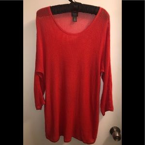 Chico's Travelers Sz 2 (12) Red Sweater